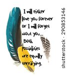 Feathers With Texts  Graphic...