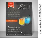 always fresh juice bar menu or... | Shutterstock .eps vector #290854565