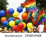 rainbow flag in london's gay... | Shutterstock . vector #290854988