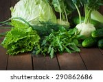 Useful Green Vegetables On A...