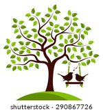 vector tree with swing and...