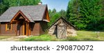 new and old lodges in the... | Shutterstock . vector #290870072