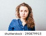 beautiful woman crying | Shutterstock . vector #290879915