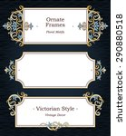 vector set of decorative frames ... | Shutterstock .eps vector #290880518
