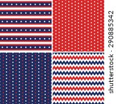 patriotic background patterns... | Shutterstock .eps vector #290885342