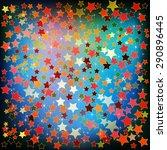 abstract christmas blue green...   Shutterstock .eps vector #290896445
