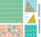geometric triangle set | Shutterstock .eps vector #290902025