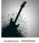 guitar music concert poster...   Shutterstock .eps vector #290909648