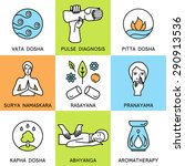 set linear icons for ayurveda... | Shutterstock .eps vector #290913536