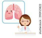 female doctor the medical... | Shutterstock . vector #290915822
