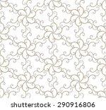 golden seamless  pattern with... | Shutterstock .eps vector #290916806