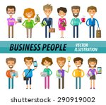 business people on a white... | Shutterstock .eps vector #290919002