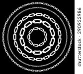 chains in circles in various... | Shutterstock .eps vector #290922986