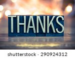 the word thanks written in... | Shutterstock . vector #290924312