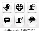 people and chat communication... | Shutterstock .eps vector #290926112