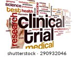 ������, ������: Clinical trial word cloud