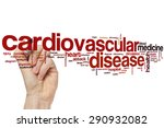 Small photo of Cardiovascular disease word cloud concept