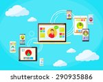 social network connection... | Shutterstock .eps vector #290935886