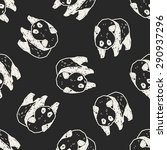 panda doodle seamless pattern... | Shutterstock .eps vector #290937296