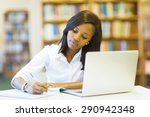 pretty female college student... | Shutterstock . vector #290942348