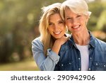 mature mother and young... | Shutterstock . vector #290942906