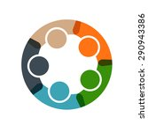 people business in a circle.... | Shutterstock . vector #290943386