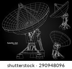satellite dish   vector... | Shutterstock .eps vector #290948096
