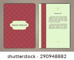 flyer brochure design template...   Shutterstock .eps vector #290948882