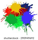 colorful ink splashes. | Shutterstock .eps vector #290949692