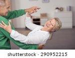 happy sweet senior couple... | Shutterstock . vector #290952215