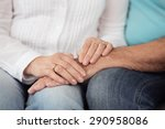 close up hands of romantic... | Shutterstock . vector #290958086