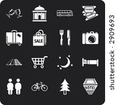 tourist locations icon set icon ... | Shutterstock . vector #2909693
