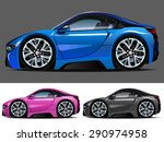 vector modern cartoon car ... | Shutterstock .eps vector #290974958