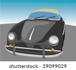 Porsche 356 Convertible Vector Illustration