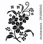 flower motif rose design sketch ... | Shutterstock .eps vector #291000542