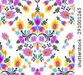 seamless vector folk pattern.... | Shutterstock .eps vector #291001265