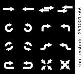 vector white arrows icon set. | Shutterstock .eps vector #291001766