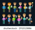 business people vector logo... | Shutterstock .eps vector #291013886