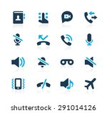 phone calls interface icons   ... | Shutterstock .eps vector #291014126