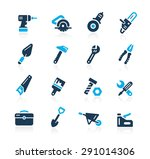 tools icons    azure series | Shutterstock .eps vector #291014306