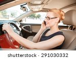 being busy. pretty young lady... | Shutterstock . vector #291030332