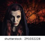 Portrait Of A Witch With Scary...