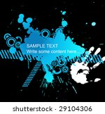 abstract blue grunge background ... | Shutterstock .eps vector #29104306