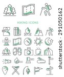 hiking icons set vector | Shutterstock .eps vector #291050162