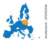 blue map of european union with ...   Shutterstock .eps vector #291052436