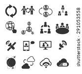 people communicartion icon set | Shutterstock .eps vector #291053558