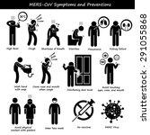mers cov symptoms transmission... | Shutterstock . vector #291055868