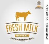 vintage label  logo  emblem... | Shutterstock .eps vector #291056372