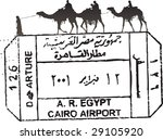 egypt passport stamp with camels | Shutterstock .eps vector #29105920