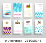 set of trendy posters with... | Shutterstock .eps vector #291060146
